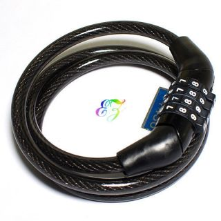 S5Y New Bicycle Lock Bike Cable with 3 Chain Combination with 2 Keys