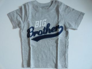 Carters Big Brother Gray T Shirt 2T 3T 5T New Short Sleeve