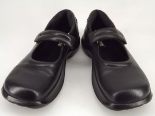 Womens Shoes Black Leather Earth Meditation 10 M Mary Jane Comfort