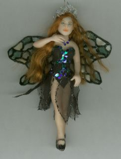 OOAK Fairy Princess Laura Original Art Ornament Sculpture Biel