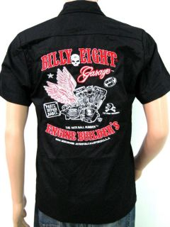 Billy Eight Classic Motorcycle Embroidery Work Shirt West Coast