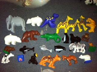 Lego Duplo Big Lot 2 of Animals Zoo Collection Farm Jungle Sea Water