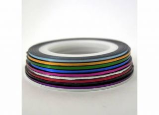 New 10 Color Rolls Striping Tape Line Nail Art Sticker Card