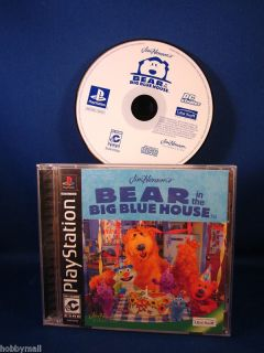 PlayStation PS1 Bear in The Big Blue House Complete Video Game
