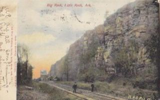 1906 Little Rock Arkansas Big Rock Postcard
