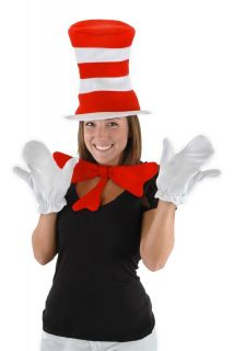 Dr. Seuss Cat In The Hat Costume Accessory Kit Adult *New*