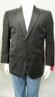 Button Mens Big Tall 50 Wool 2 Button Suit Jacket Navy