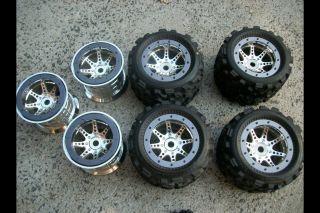Big Joe 17mm Hex BeadLock Wheels Rims Tires Traxxas T Maxx Revo HPI