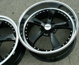 TSW Strip 19 Black Rims Wheels Infiniti M35 Staggered 19 x 8 0 9 5 5H