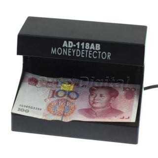 New 110 220V UV Light Counterfeit Money Detector Checker With EU Plug