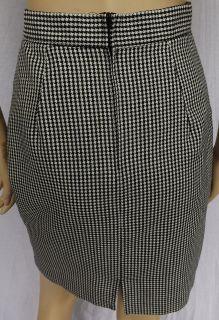 Vintage BIJOU USA Black + White Plaid Skirt Suit Sz. 4 6 Long Jacket