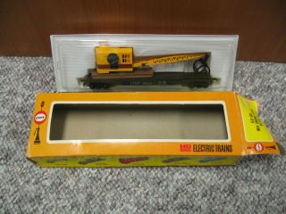 Cox HO Scale Big Pine Lumber Co. Log Flat Car with Loading Crane with