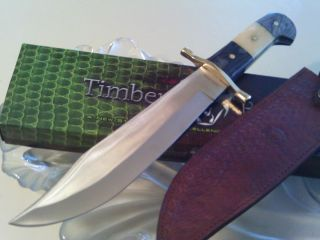 Timber Rattler Big Ranch King Bowie Hunter Combat Full Tang Knife Bone