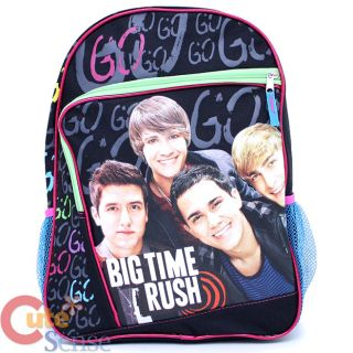 big time rush school backpack 16 large bag go go