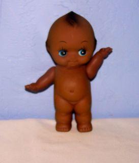Vintage Rare Beautiful Big Blue Eyes Black Americana Kewpie Doll