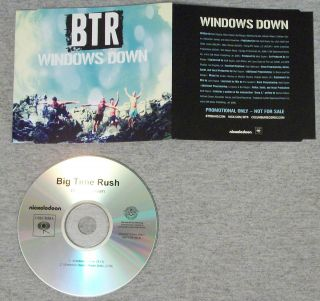 Big Time Rush Windows Down 2012 U s Promo CD RARE