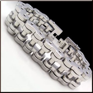 Cool Super Heavy Bike Chain Stainless Steel Link Bracelet 9 21mm 225g
