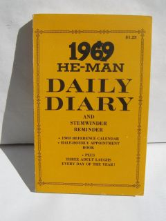 1969 He Man Daily Diary Bill Ward Wyma Cartoons Appointment Book Jokes