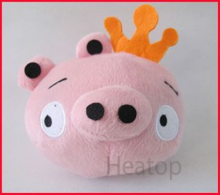 Hot iPhone Game Angry Birds Pink Pig Plush Toy 6