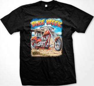 Bike Week Men's T Shirt Motorcycle Chopper Biker Rider Graphic Tee