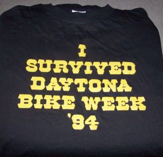 Vintage Daytona Beach Bike Week Shirt Funny 1994 XL