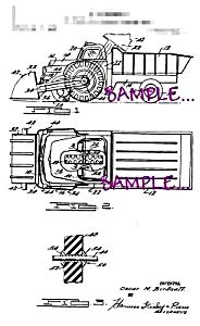 Patent document [Matted For Framing] for a Toy Truck by Mr. Birdsall