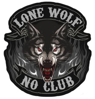 Lone Wolf Club Moorcycle Pach P3850 Biker Paches Bikers Novely