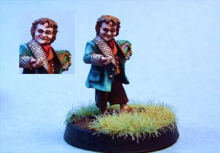 Lord of the Rings painted miniature Bilbo Baggins