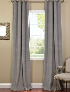 silver grey grommet velvet blackout curtains drapes luxurious