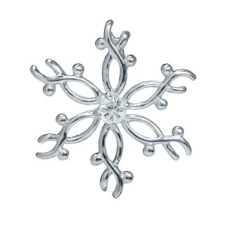 September Birthstone White Sapphire 925 Sterling Silver Snowflake