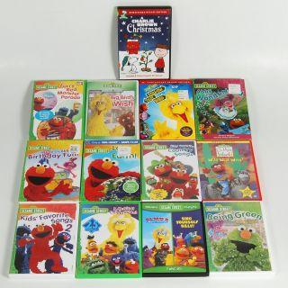 Lot of 13 Sesame Street Childrens DVDs Elmo Big Bird   Charlie Brown