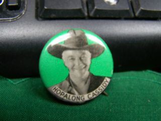 Vintage Hopalong Cassidy Pinback Button Pin