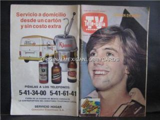 shaun cassidy on cover mexican tv guide 1980