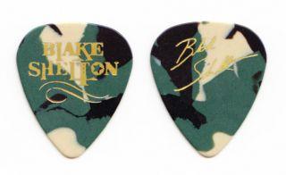Blake Shelton Camouflage Signature Guitar Pick 2011