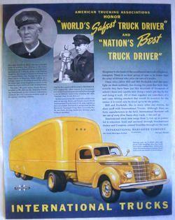 1938 INTERNATIONAL TRUCKS   MODEL D 50 SEMI TRAILER PRINT AD!