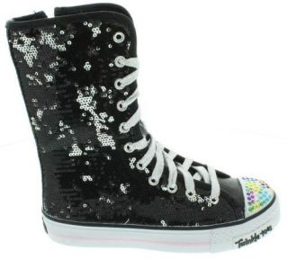 Girls Skechers Twinkle Toes Shuffles Bizzy Bunch Sneaker Kids Boots