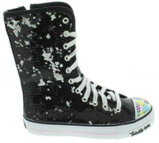 Girls Skechers Twinkle Toes Shuffles Bizzy Bunch Sneaker Kids Boots