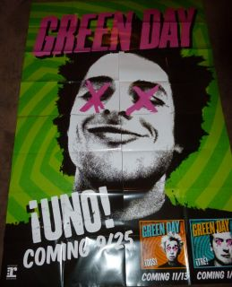 GREEN DAY Billie Joe Armstrong MASSIVE Uno 4 piece PUNK promo poster
