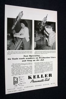 Keller Pneumatic Tools Production Assembly Line Ad