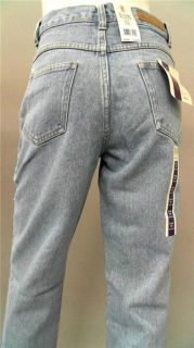 Bill Blass Easy Fit Petite 10P Stone Wash Straight Leg Jeans Light