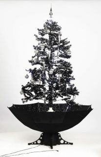 Self Snowing Artificial Christmas Tree Black 190 cm Snow Falling