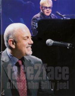 BILLY JOEL & ELTON JOHN 2010 FACE 2 FACE TOUR CONCERT PROGRAM BOOK