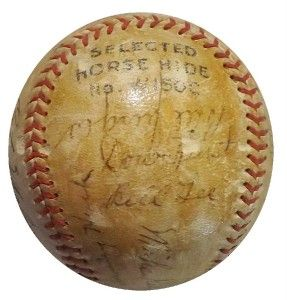 1934 Chicago Cubs Team 24 SIGNED Baseball KIKI CUYLER GABBY HARTNETT