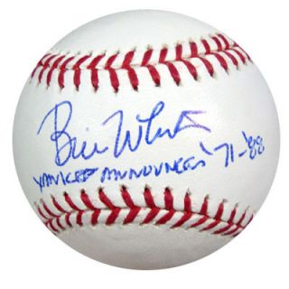BILL WHITE AUTOGRAPHED SIGNED MLB BASEBALL YANKEE ANNOUNCER 71 88 PSA
