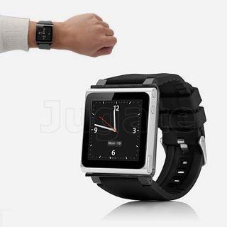 Multi touch Bracelet Watch Band Black Strap for iPod Nano 6th 8GB 16GB