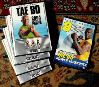 Billy Blanks Tae Bo 2004 Capture The Power Set of 5 DVDs