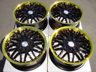 15 x 6 5 Wheels Rims EZ Go Club Car Yamaha Star Golf Cart Black Gold