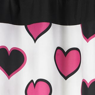 jojo hearts black white pink shower curtain shower curtain pony
