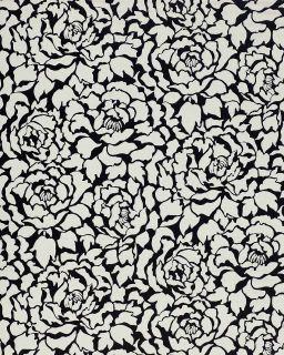 Deluxe Deep Embossed Luxury Wallpaper Peony Flowers Black White
