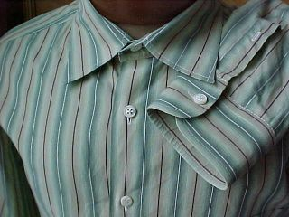 Billy Reid Italy Mens Cotton Striped Shirt XXL